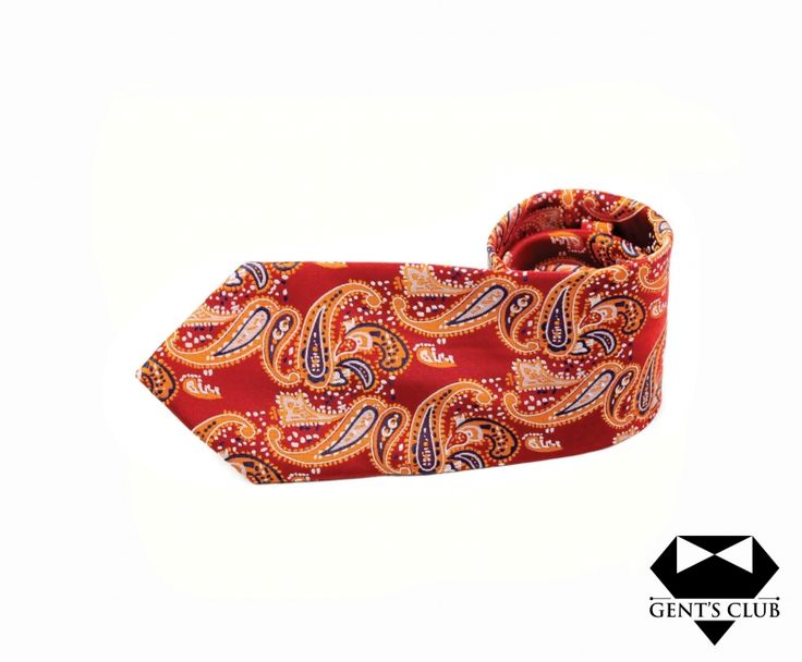 Accessories for gentlemen. Gent's Club brand  Paisley tie www.gents-club.ro