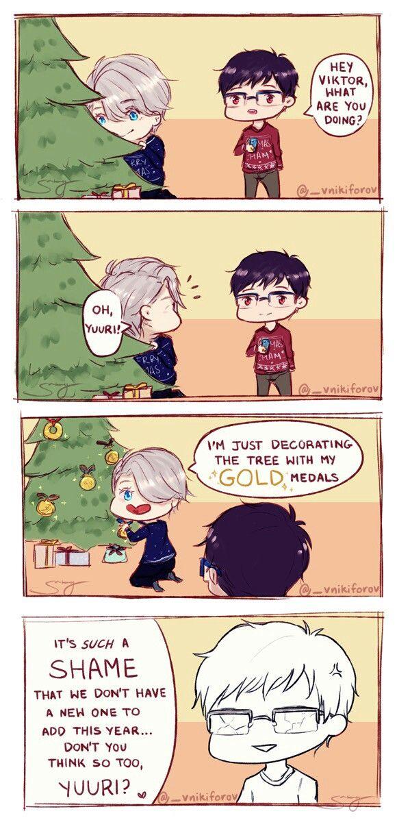 Victor/Viktor Nikiforov / Yuri/Yuuri Katsuki / Yuri on Ice / #yoi Victor is so mean .-.>>>ooooooOOOOHHHHHHHHHH! OH SNAP!