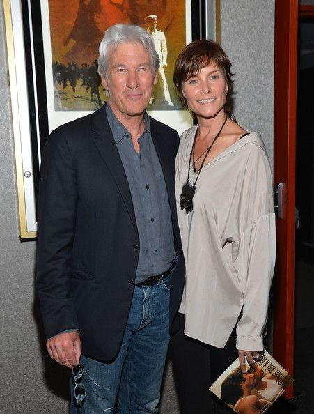 "Richard Gere Photos Photos - Actor Richard Gere (L) and Carey Lowell attend the AMPAS screening of ""An Officer And A Gentleman"" in celebration of Paramount Pictures 100th Anniversary at the Academy Theater at Lighthouse International on June 12, 2012 in New York City. - AMPAS Special Screening Of ""An Officer And A Gentleman"""