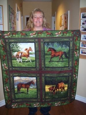 Somebody make this for me please! inlove horse quilt