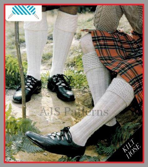 PDF Knitting Pattern For Scottish Kilt Socks/Hose With a ...