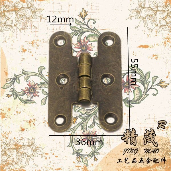 10 pcs 55MMx36MM Jewelry Box hinges  gift box Hinges  Wooden box Hinges with Screws (180 degrees) by DiySupplyers on Etsy