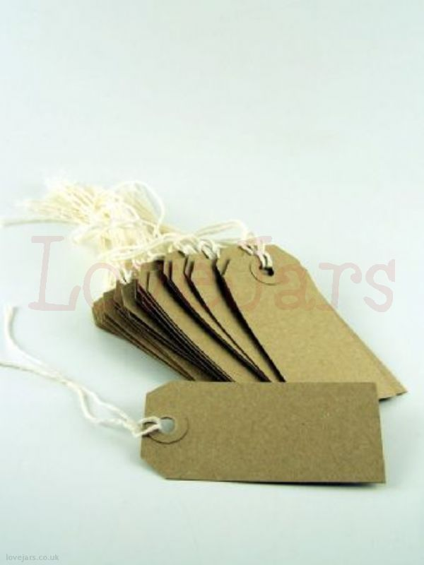We love Kraft Luggage Tag [30] - find them in our online shop under Rosie's Pantry: Jarcessorise, Tags