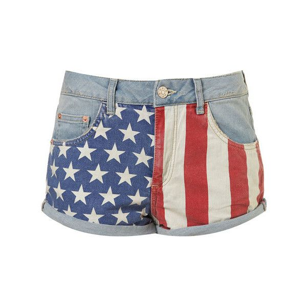 Women's Patriotic Clothing for the 4th of July > ❤ liked on Polyvore featuring shorts, bottoms and pants