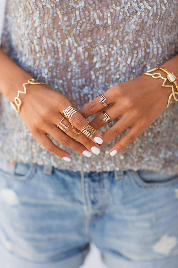 ALL YOU NEED IS LOVE... // Gold Jewelry via VivaLuxury