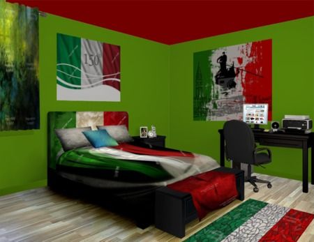 Italian Flag Wall Murals, stylish, fun, and tasty. See our Italian Flag designs at http://www.visionbedding.com/WallMurals/ItalianFlag.php
