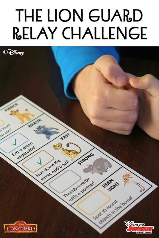 Pin now, play later! Kids will love to use their special talents to complete this fun set of challenges, inspired by Disney Junior's The Lion Guard. Catch the series premiere this Friday morning!