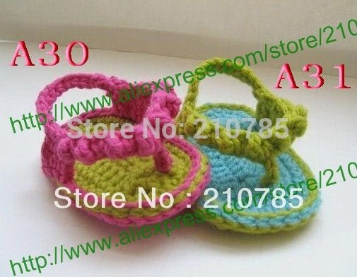 Crochet Baby Sandals, Baby white flower Flip Flops, Crochet Baby Shoes, Sizes 0-12 Months,50pair/lot Free Shipping #Affiliate