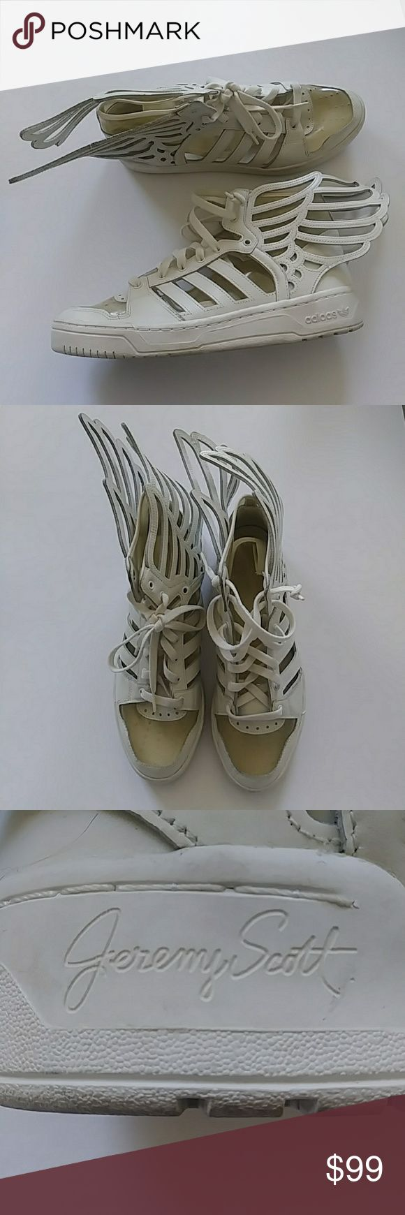 Jeremy scott adidas white winged shoes sz:us12 Jeremy scott adidas white winged shoes sz:us12 adidas Shoes Sneakers