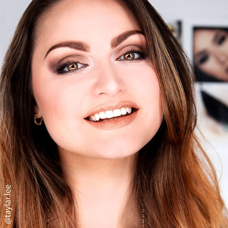 Swoon! Taylar looks glorious in our Silk Airbrush Foundation, Naughty & Nude Eye Shadow Palette and Rose Gold Lip Crème.