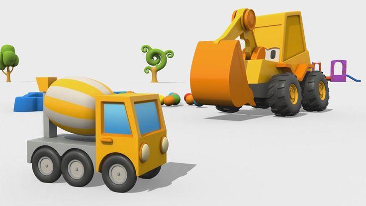 Cartoni Animati per Bambini - Max l'escavatore: come si fa una betoniera?