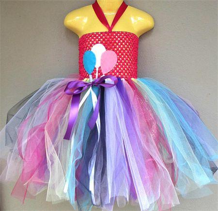 Birthday Princess Party Dress Size 0-2years - rainbow/balloons/ribbon/tulle madeit.com.au/moobearcreations