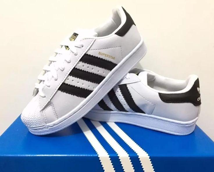 Tênis Sapatenis Adidas Superstar Novo Na Caixa+12x Sem Juros - R$ 89,99 em Mercado Livre