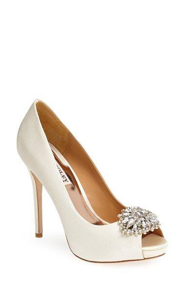 Badgley Mischka 'Jeannie' pumps - love these for a wedding shoe!
