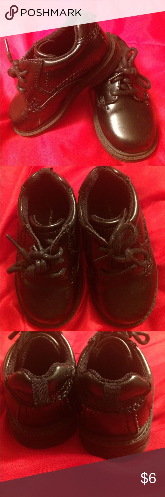 Sz 6 Toddler Boy dress shoes Very nice sz 6 toddler boy dress shoes. These have no wear as we wore them very little. These are perfect for church or any special occasion! Ask any question before purchasing. Thank you for looking! :) George Shoes Dress Shoes
