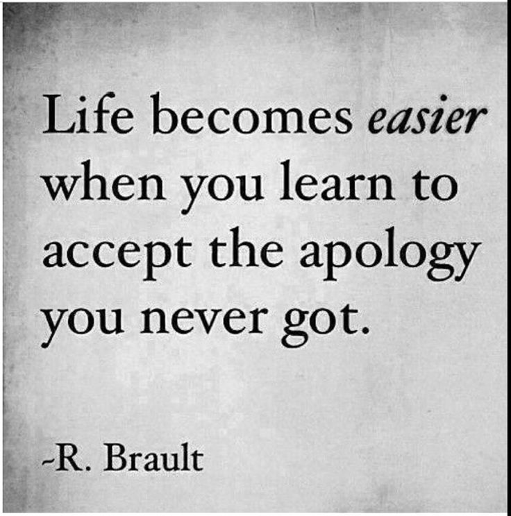 Life quotes. Apology