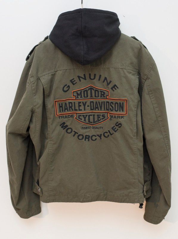 Harley Davidson Road Warrior Xl Canvas Jacket New 98400