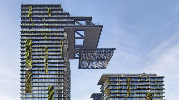 The cantilevered heliostat is a world-first for a residential building.