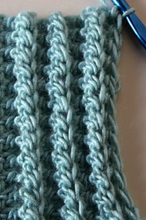"""This pattern introduces a new stitch technique called """"cast on half tripl…"""