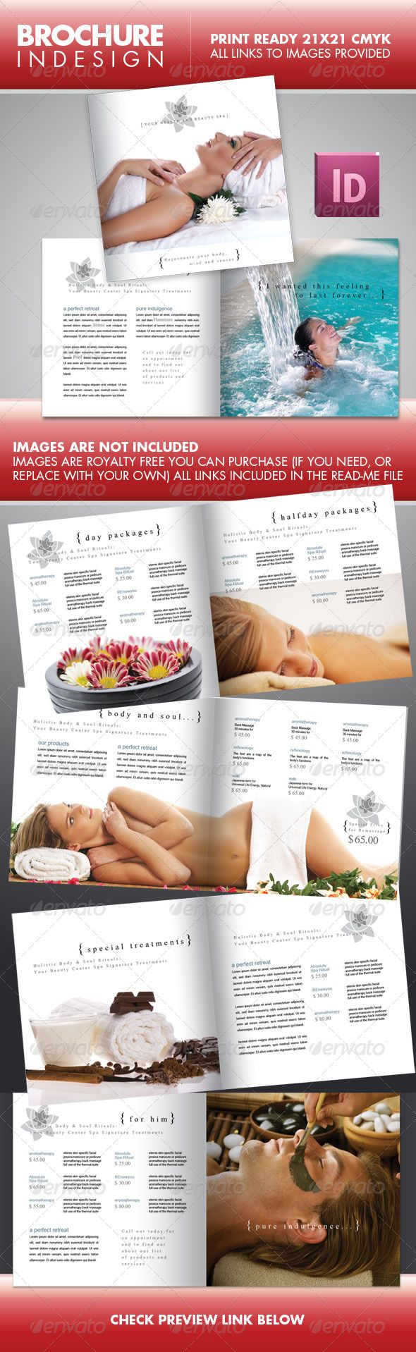 SPA Beauty Center Square Brochure