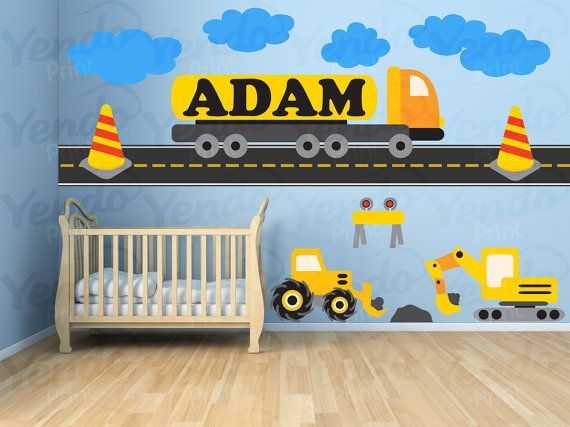 Baby Wall Decals SET  Personalized Construction by YendoPrint, $35.00