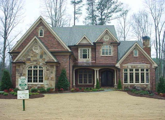 Stone and Brick Homes for Modern Pedestrian Look European Style