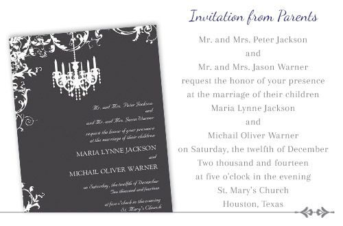 Wedding Invitations Formal Wording: 17 Best Images About Invitations On Pinterest