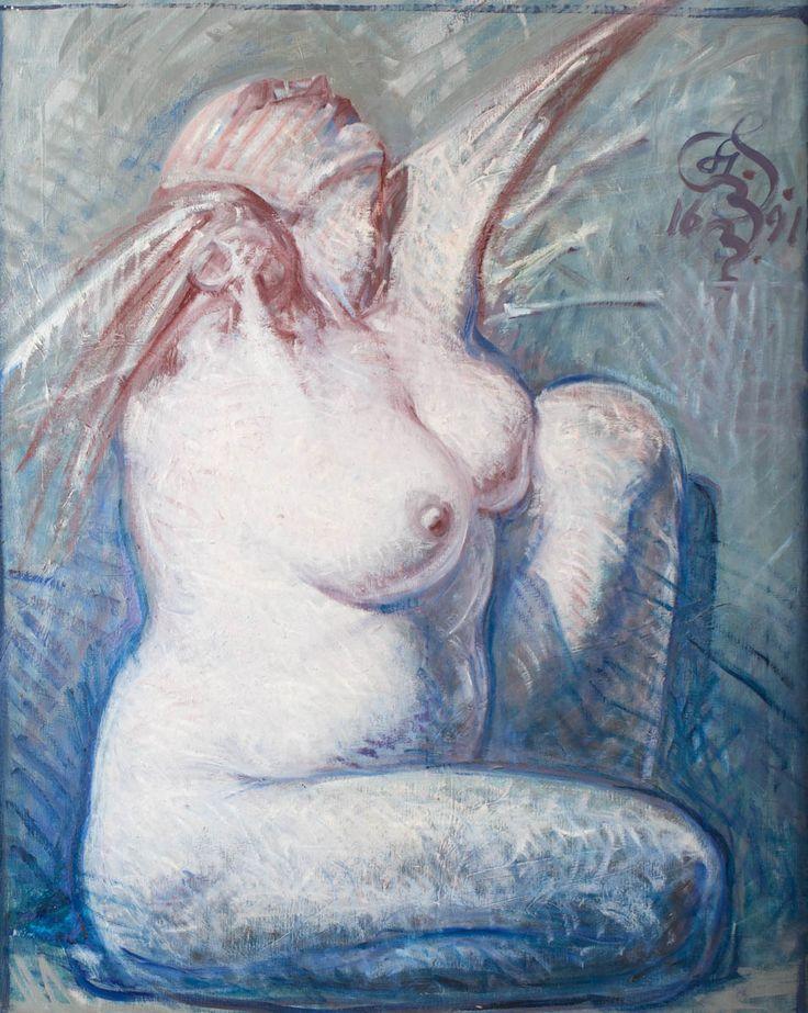FRANCISZEK STAROWIEYSKI (1930 - 2009)  NIKE, 1991   olej, płótno / 100 x 80 cm
