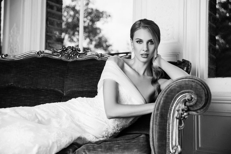 The Athena Dress from The Nina Rose Bridal 2016 Campaign. Nina Rose is a London based luxury silk wedding dress designer. Shot by Amelia Allen photography.