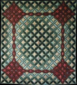 CATHEDRAL WINDOWS QUILT.............PC