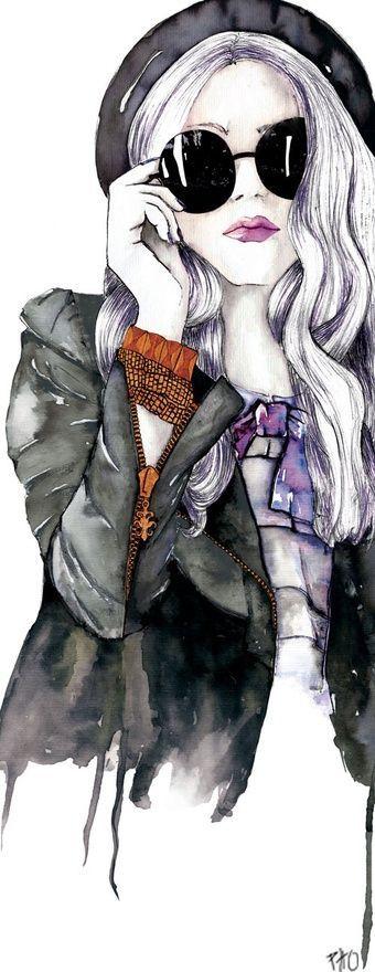 Graphic Girl by Paola Haitz Olaguivel. Facesunglasses