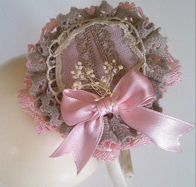 diadema rosa con piedra de Errederosa complementos por DaWanda.com