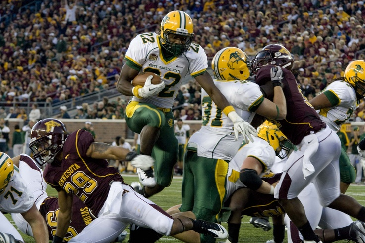 such a thrill.. NDSU VS. Minnesota. 40,000 people..touchdown