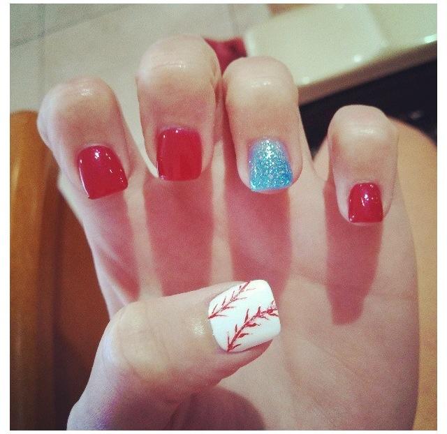 Baseball nails, Im so ready for baseball season!!