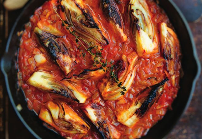 Braised Fennel Wedges With Saffron and Tomato Recipe #FoodRecipe More