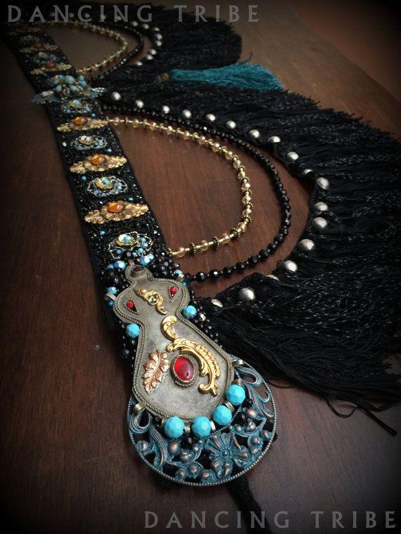 Tribal Fusion Belt Tribal Belly Dance Belt Gypsy by DancingTribe