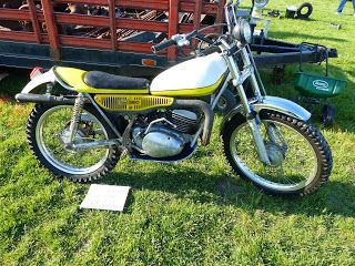 OldMotoDude: 1974 Yamaha 250 Trials spotted for sale at a Vintage Swap Meet in Kennewick, Wa.