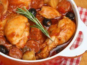 Poulet à l'espagnol - Recette de cuisine Marmiton : une recette