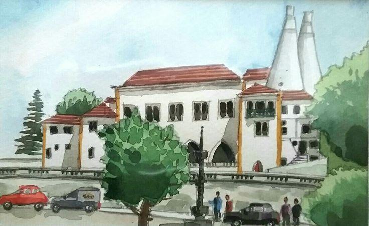 Sintra - watercolour - Daniel