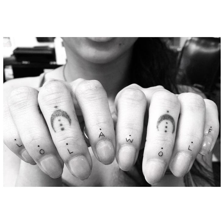 I know finger tattoos don't last long, but I love them!