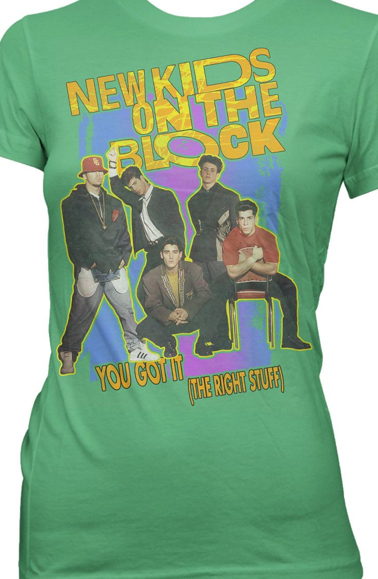 The Right Stuff New Kids on the Block T-Shirt: Ladies NKOTB Shirt