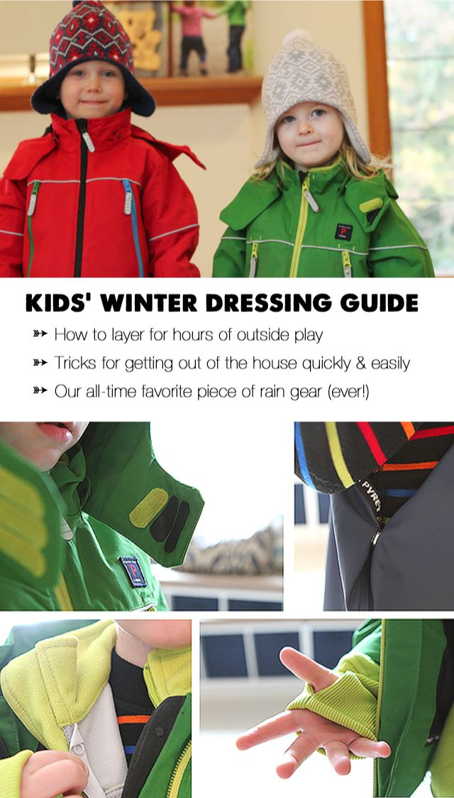 Pin, bookmark, etc. to save for future reference - tons of great info. here on the best types of clothes to keep kids warm as well as great tips on getting suited up & out the door in the morning without nagging and whining.