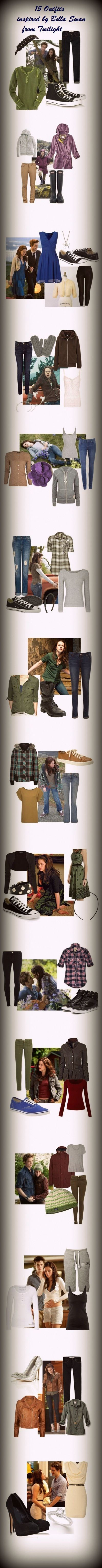 Nit really a twilight fan...but I like these clothes..Bella Swan inspired outfits