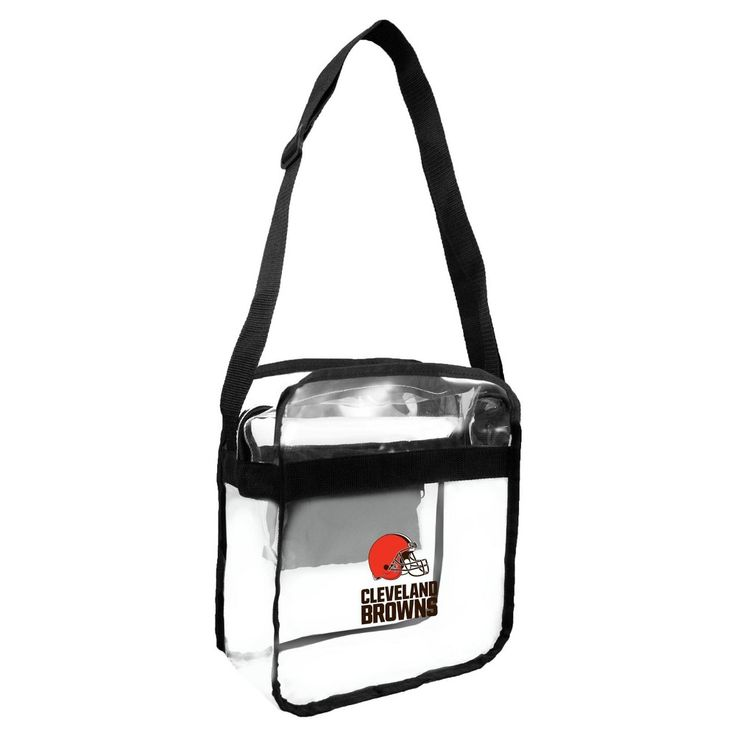 NFL Cleveland Browns Clear Carryall Crossbody Bag, Adult Unisex