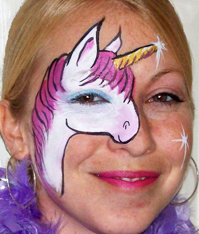 unicorn face paint maquillage licorne pinterest search paint tattoo and fashion. Black Bedroom Furniture Sets. Home Design Ideas