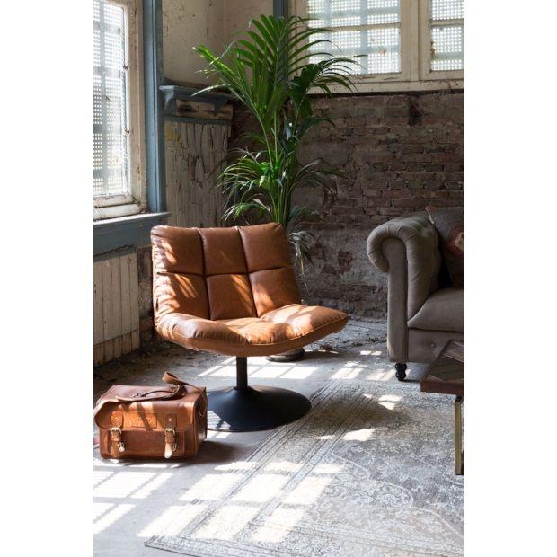 Dutchbone Bar Loungestoel 41 x 90 cm - Vintage Bruin - afbeelding 3