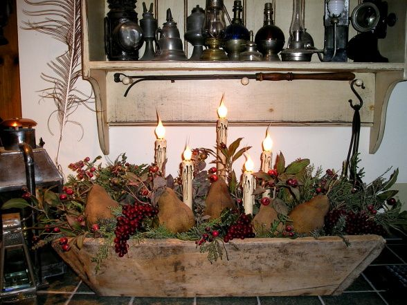 Beautiful Centerpiece... Primitive Christmas DecoratingPrimitive ...