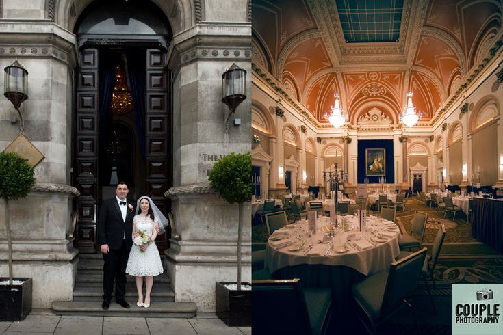 Louise and Connor pose outside the entrance of the Westin Hotel Dublin. http://www.couple.ie