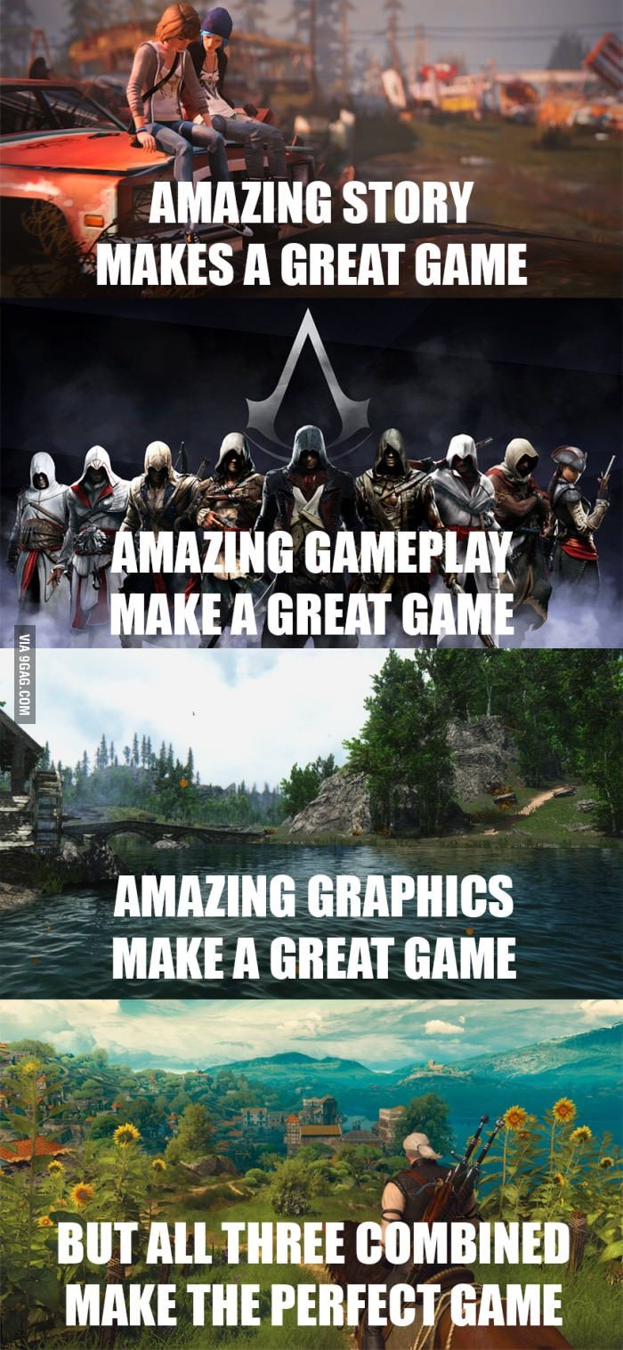 So true. Almost the perfect game.