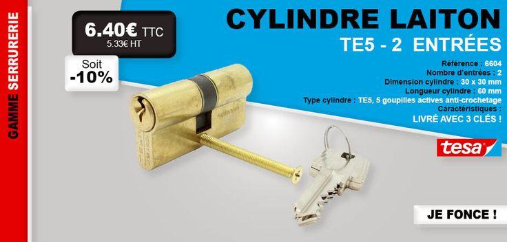 #remise #cylindre #laiton #Tesa #clés #serrurerie #goupille #TE5 #porte #habitation #promo #prix #réduction #serrure